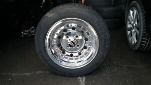 4 14 Chrome Plated Wheels 4 X 108 0mm Offset With New Tires