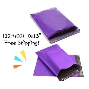 Free Shipping 25 400 Pack 10x13 Purple Poly Mailers