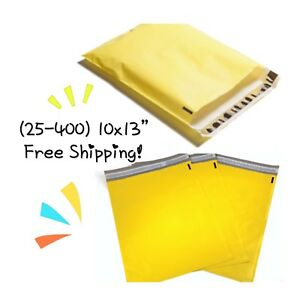 Free Shipping 25 400 Pack 10x13 Yellow Poly Mailers