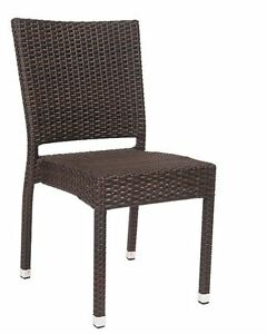 New Aluminum Synthetic Wicker Armless Chair Outdoor Restaurant Furniture 260