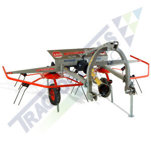 Ts110 Two Rotor Three Point Tedder By Terra