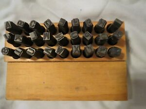 Vintage 1 4 Steel Metal Stamping Letter Hand Set A z 27 Pieces Made In Usa