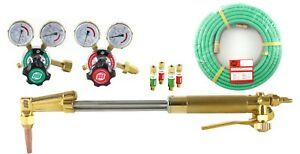 S a 18 Heavy Duty Cutting Torch Set Compatible With Harris 25 Hose Acetylene