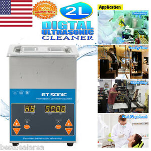 2l Ultrasonic Cleaner Digital Display Stainless Steel Sonic Cleaning Equipment