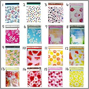 100 Pack 10x13 You Choose Or Get A Mix Designer Poly Mailers Free Ship