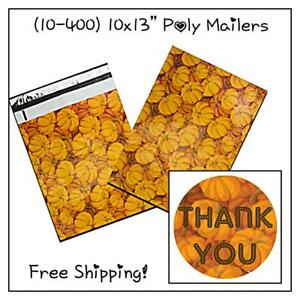 Free Shipping 25 400 Pack 10x13 Pumpkins Designer Poly Mailers