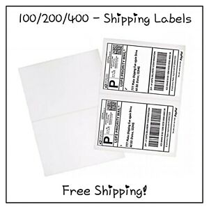 100 200 400 Pack Self Adhesive Shipping Labels free Shipping