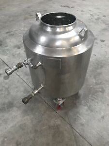 Mueller 150 Liter Stainless Steel Jacketed Reactor Pressure Vessel No Lid