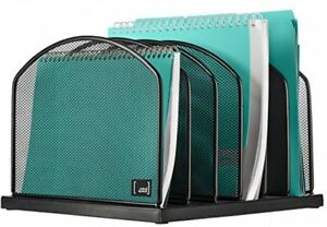 Desktop File Organizer Sorter By Mindspace With 6 Vertical Compartments Mesh