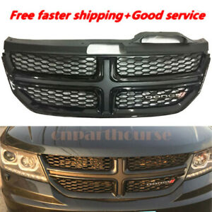 For Dodge Journey 2013 2016 14 15 Black Front Grill Bumper Radiator Upper Grille