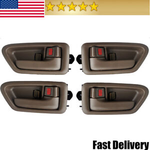 Interior Door Handle Fits 1997 2001 Toyota Camry Inside Left Right Set Of 4