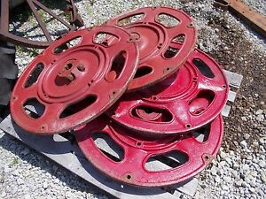 Farmall C Sc Tractor Factory Ih Rear Cast Center Hubs Mounting Wedges