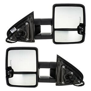 Oem New Power Heated Trailering Tow Mirrors 14 19 Silverado Sierra 23372182