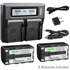 Bt65q Battery Lcd Dual Charger For Topcon Gpt 7500 Gts 900 Gpt 9000a Robotic