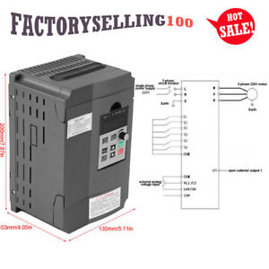 2 2kw 3hp Single Phase Motor Speed Control Variable Frequency Drive Inverter