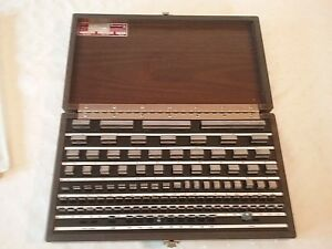 Starrett Gage Block Set Grade 2 With Key 112 Piece Set