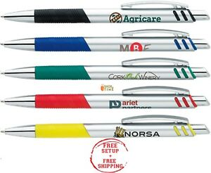 Promotional Pens Imprinted W Company Name Logo Text In 1 Color 300 Qty