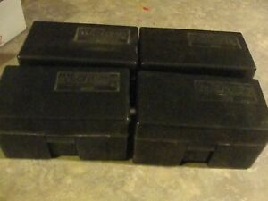 lot of 4   509 Midway Ammo Box  Safe Storage Bullet Case