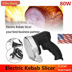 80w Electric Kebab Slicer Shawarma Doner Meat Cutter Machine Knife Gyro Blade