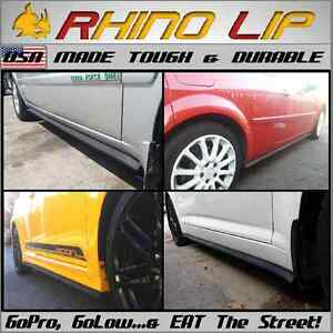 Durable Rubber Side Skirt Rocker Panel Chin Lip Spoiler Under Panel Splitter