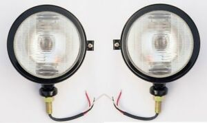 Massey ferguson tractor head lights black fits in 1035 35 135 148