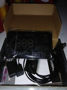 A8 5 5 Car Speed Fatigue Warning Hud Head Up Display Driving Data Monitoring