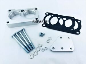 Silver Billet Throttle Body Spacer Fit Chevy 85 92 Chevrolet Camaro 5 7l V8