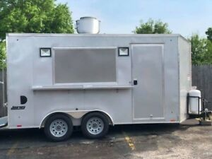 2018 Pace Jv7x14te2 7 X 14 Concession Food Trailer All Equipment Included