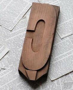 Letter Rare Wood Type 7 99 Woodtype Hand Carved Letterpress Printing Block