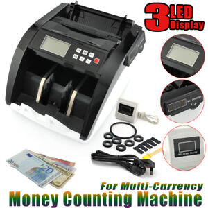 Lcd Money Bill Multi Currency Counter Mg Uv Counterfeit Automatic Cash Counting