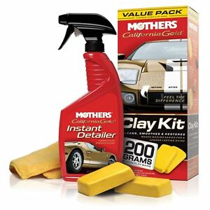2 X Mothers California Gold Clay Bar System Ideal For Tough Grime On Paint Work