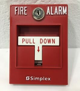 Simplex 4099 9001 Fire Alarm Pull Station box Used