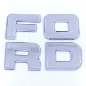 92 95 Ford F 150 F 250 F 350 Tail Gate Emblems Nameplate Badge Letters Tailgate Fits Ford Lightning
