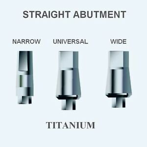 50xdental Straight Titanium Abutments screw For Internal Hex Implant System 254