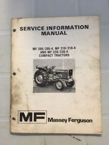 Massey Ferguson 205 210 220 Service Information Manual