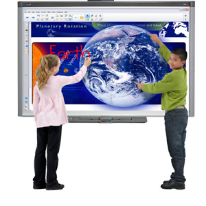 Lot Of 10 Interactive Smart Boards Sb680 For Classroom Witth Projectors