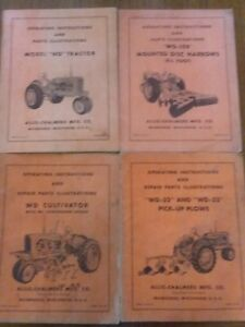 4 Allis Chalmers Model Ac wd Tractor Disc Plow Shop Service Repair Manual Book