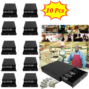 Cash Drawer Work Compatible For Epson Star Pos Printers 4 Bill 5 Coin Black Vp