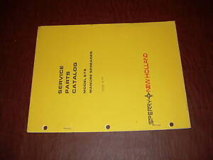Sperry New Holland 679 Manure Spreader Parts Catalog
