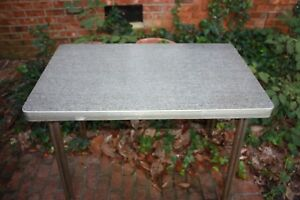 1950 S Vintage Mid Century Kitchen Table Rectangular Chrome Formica Retro Dining