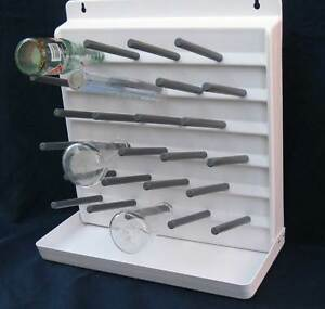 Large Bell Plastics Bottle Drying Rack Drain 27 Dryer Lab Test Tubes Pegboard