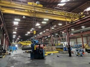 20 Ton X 42 Frontier Double Girder Top Riding Overhead Bridge Crane
