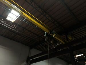 3 Ton X 60 North American Single Girder Under Hung Overhead Bridge Crane 2006