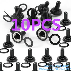 10 Pcs 12mm Toggle Switch Waterproof Rubber Resistance Boot Cover Cap Us Stock