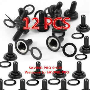 12 Pcs 12mm Toggle Switch Waterproof Rubber Resistance Boot Cover Cap Us Stock