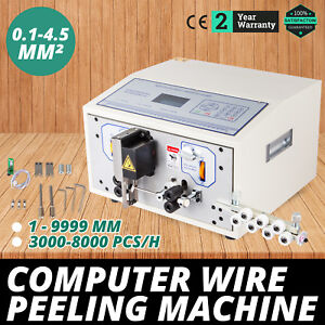 Computer Wire Peeling Stripping Cutting Machine 0 1 4 5mm 4 Wheels Swt508 sd