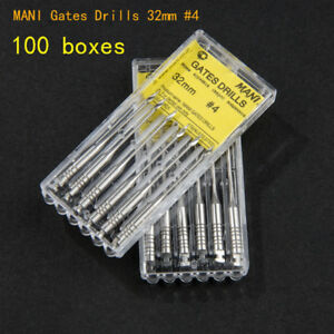 100pack 32mm 3 Mani Gates Drills Dental Endodontic Root Canal Instrument Ss