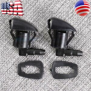 2 X New Windshield Wiper Washer Nozzle Spray Jet For Gmc Acadia Saturn Outlook