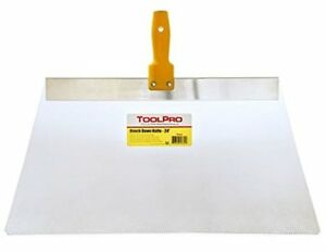 Toolpro 36 Knockdown Knife Taping Knives Lexan Blade For Consistent Patterns