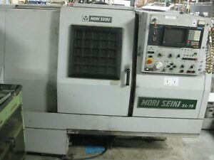 B Mori Seiki Cnc Spindle Lathe Model Sl 15 W Fanuc Chipper Knoxville Tn